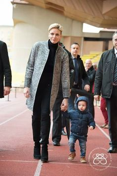 Princess Charlene and Prince Jacques.