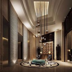 Just love this amazing idea for a hotel lobby! Such unique lighting! #DesignInspiration