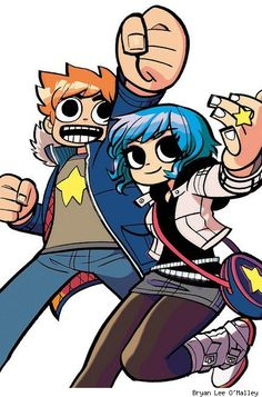 Scott Pilgrim and Ramona Flowers by Bryan Lee O'Malley