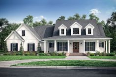 Farmhouse Style House Plan - 4 Beds 3.5 Baths 2926 Sq/Ft Plan #430-175 - Eplans.com