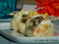 Ensaladilla de boquerones en vinagre http://lacocinadecarmela.blogspot.com.es/2016/03/aperitivos-y-salsas-ensaladilla-de.html