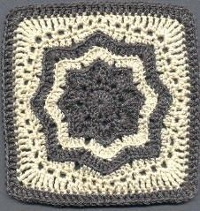 Crochet & knitting — Nordic Star Afghan Square Materials: Red Heart...