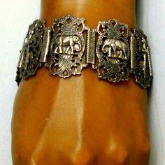 Silver OTTOMAN Bracelet LARGE Filigree by VintageStarrBeads