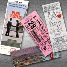 PINK FLOYD Retro Concert Tickets Fridge Magnet by StickyTickets, £9.95