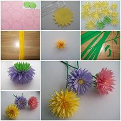 fleurs en papier, papier dahlia and faire du papier on pinterest