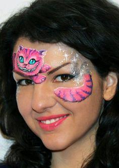 cheshire cat face paint by Olga Meleca