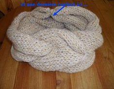 Tuto, diy, patron tricot gratuit : comment tricoter un snood (Valentin's snood - Bonnet Crochet, Knit Crochet, Merino Wool Blanket, Turban, Tatting, Couture, Bonnets, Voici, Crochet Shawl