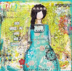she lived a life of charity mixed media original