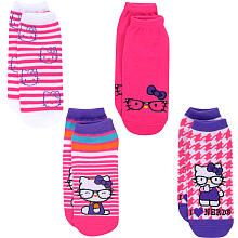 Hello Kitty Girls 4-Pack Glasses-Print Ankle Socks - Pink and White _Toys R Us
