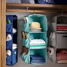 Rv Camper Organization And Storage Ideas Travel Trailers , RV storage can be rather an important consideration when choosing your RV of the future. For that reason, it is the ideal solution to tiny craft room . Hanging Closet Storage, Dorm Room Storage, Dorm Room Organization, Organization Ideas, Clothes Storage, Wardrobe Storage, Diy Clothes, Travel Trailer Organization, Trailer Storage
