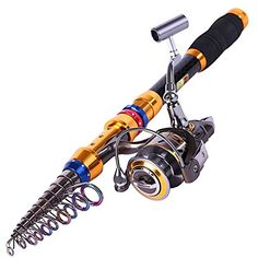 """Sougayilang Portable Telescopic Fishing Rod and Reel Combos Travel Spinning Fishing Pole Kits  https://fishingrodsreelsandgear.com/product/sougayilang-portable-telescopic-fishing-rod-and-reel-combos-travel-spinning-fishing-pole-kits-2/  PLEASE NOTE THAT: THE SIZE OF """"+FULL KITS"""" IS INCLUDING THE LURES, LINE AND OTHER ACCESSORIES, OTHERWISE ONLY THE FISHING ROD AND REEL High density Carbon fiber mixed with fiberglass make fishing pole hard & durable, Unique fas"""