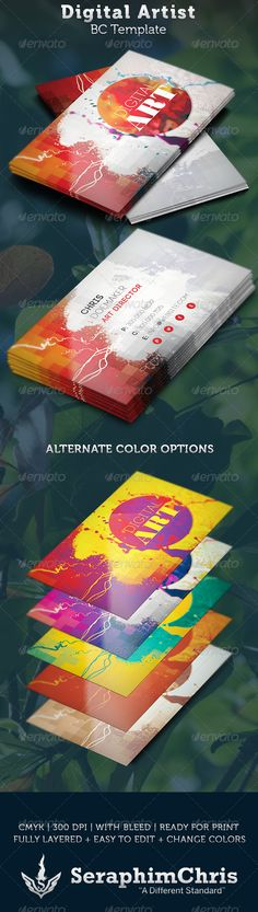 Artist business card graphic available in eps vector format digital artist business card template reheart Gallery