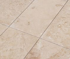 "Travertine Tile - Honed and Filled - Light Beige Commercial / 12""x24""x1/2"" / Honed and Filled / Straight Edge"