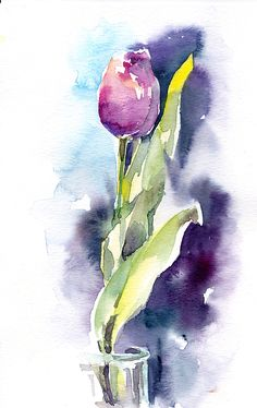 This link goes to a general group of tulip art in Fine Art America. I believe this is a painting by Sophia Rodionov, whose work can be seen here on FAA: https://fineartamerica.com/profiles/sophia-rodionov.html