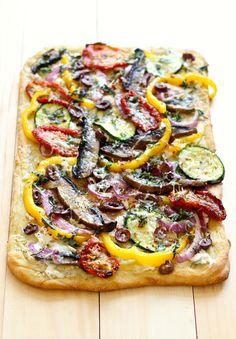 Roasted Vegetable Flatbread - The Girls on Bloor