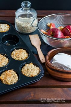 apple and quark oat muffin
