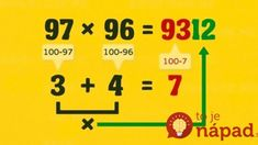 Fast Math Tricks - multiplication of two and three digit numbers. Simple Math, Basic Math, Multiplication Tricks, Daily Math, Fun Math Games, Math Help, Positive Reinforcement, Calculus, Algebra
