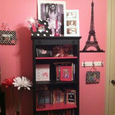 Paris Room...cant wait to get jarrahs room done def putting a shelf like this