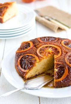 Plum cake tatín de naranjas sanguinas