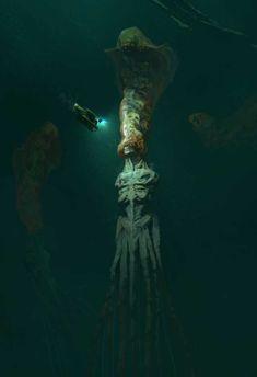 The art of horror. Monster Concept Art, Fantasy Monster, Monster Art, Dark Creatures, Fantasy Creatures, Fantasy Kunst, Dark Fantasy Art, Arte Horror, Horror Art