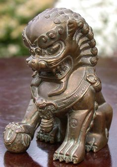 Bronze fu dog, possibly a scroll weight-Chinese, 19th century?