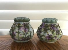 Antique salt and pepper shakers Nippon by AntiqueAddictions