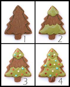 Decora tus galletas de arbolito de navidad en menos de lo que te imaginas.