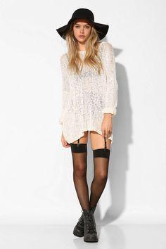 Ecote Slubby Tunic Sweater