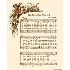 HAVE THINE OWN Way Lord  8 x 10 Antique Hymn Art by VintageVerses, $5.00