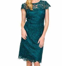 Short Vintage Lace Modern Mother of Bride Plus Size Formal Boho Cocktail Dress