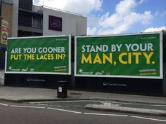 """All Arsenal and Man City players will have them on.This banner is outside the stadium"""" Rainbow Laces, Stand By You, Arsenal, The Outsiders, Campaign, Banner, Around The Worlds, Twitter, City"""