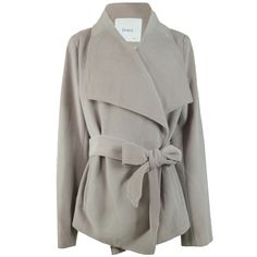 I really love this jacket, both the color, the slimming belt and the wrap. Kimono Jacket Grey-Violet//