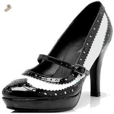 Ellie Shoes Women's 414 Flapper Spectator Pump, Black/White, 8 M US - Ellie shoes pumps for women (*Amazon Partner-Link)