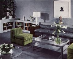 Vintage living room published in a 1937 House & Garden.