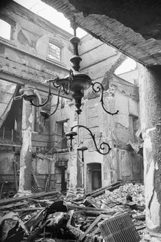 Ministry of Information Photo Division Photographer -- The ruins of the Great Synagogue in Dukes Place, London, which was destroyed by an air raid on the evening of Saturday 10 May 1941. -- High quality art prints, canvases -- Imperial War Museum Prints