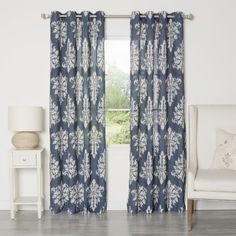 These gorgeous curtains with a grommet top will be a great modern addition to any room. An impeccable ikat print in neutral tones combines with a durable polyester and linen blend construction for a perfect everyday accent to your home.