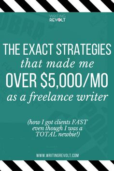 Here are the 7 strategies I used to find freelance writing clients FAST –even though I was just getting started as a freelance writer. Check it out so you can make money writing online too! :)