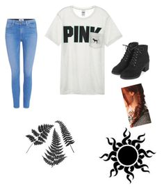 """""""Untitled #21"""" by punkie707 ❤ liked on Polyvore featuring Victoria's Secret, Paige Denim and Topshop"""