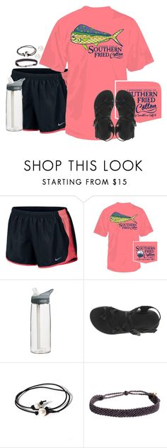 """tag list in d"" by preppy-classy ❤ liked on Polyvore featuring NIKE, CamelBak, Chaco, Joie, Pura Vida and Accessorize"