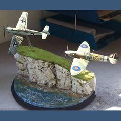 Great Dio!! Unknown modeler  From: pinterest  #scalemodel #plasticmodel #plastimodelo #miniatura #miniatur #maqueta #maquette #modelismo #modelism #modelisme #hobby #usinadoskits #udk #airplane #aeronave