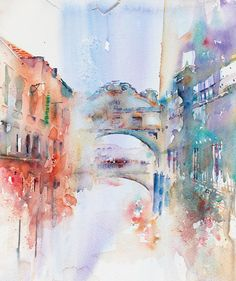 Bridge of Sighs taken from Jean Haines' Atmospheric Watercolours