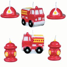 Fire Engine Fun Candle Set