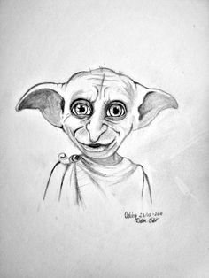 How To Draw Dobby From Harry Potter Step 6