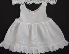 VTG Baby Girls Dress Slip Embroidery French Lace Delicate Handmade
