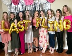 LAST FLING BEFORE THE RING | BACHELORETTE PARTY IDEAS | BACHELORETTE PARTY DECOR | BACH PARTY BANNERS