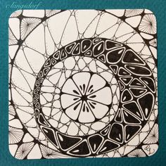 Alphabee Tangles - Zentangle tile with Nzepple