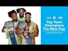 The New Day Trains at Bodybuilding.com Gym | WWE Superstars The New Day Wwe, Xavier Woods, Wwe Superstars, Trains, Bodybuilding, Champion, Gym, Baseball Cards, Workout