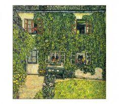 KLIMT, Gustav Austrian Art Nouveau House of Guardaboschi 1912 Gustav Klimt, Art Klimt, Art Nouveau, Art Deco, Art Magique, Arte Popular, Oil Painting Reproductions, Claude Monet, Land Scape