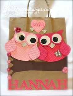 owl valentine box owl valentine bag stampin connection boxes bags
