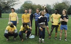 Bob Marley, Soccer in Battersea Park, London, 1977. Photograph by Adrian Boot.